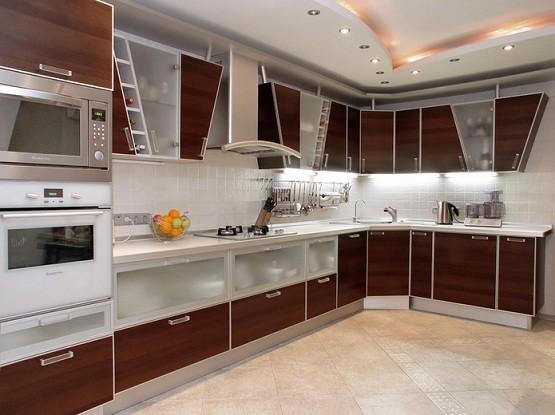 Contemporary kitchen design with hidden storage