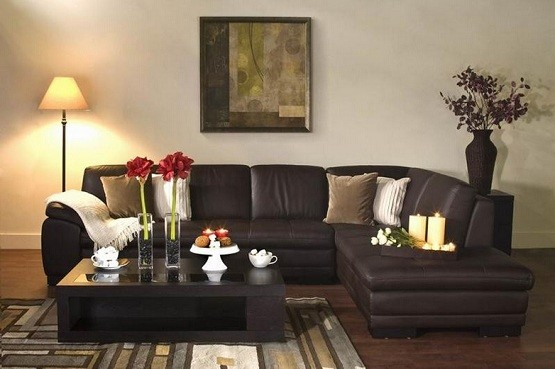 Chic Sense With Leather Living Room Furniture Sets Home Interiors