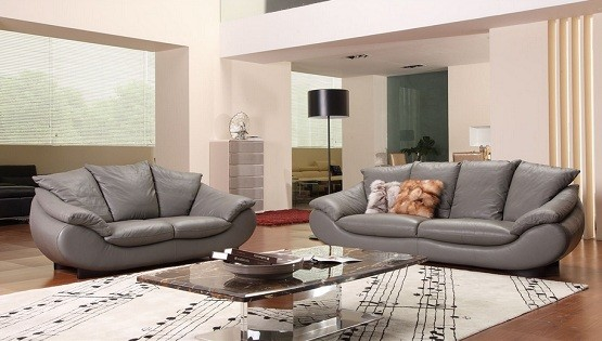 Grey Living Room Furniture Set : Chic Sense with Leather Living Room Furniture Sets  Home ...