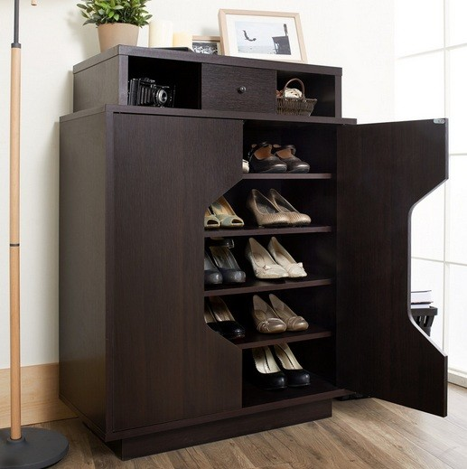 Contemporary Design Shoe Cabinet With Doors For Any Room
