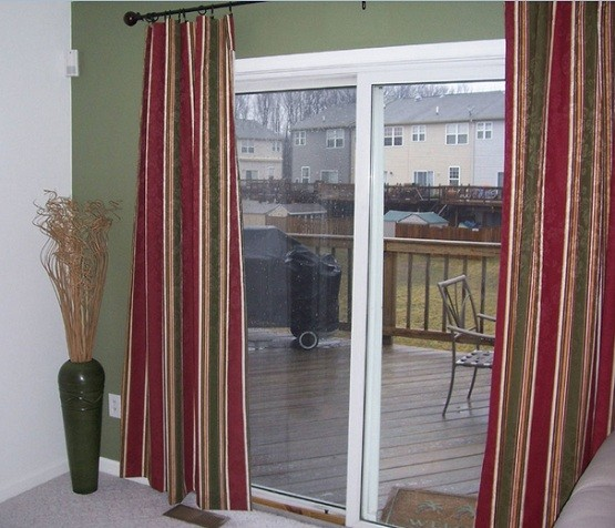 sliding glass door curtains ideas to decorate your home home interiors. Black Bedroom Furniture Sets. Home Design Ideas