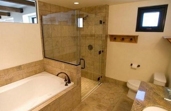 Glass door for bathroom shower remodel ideas