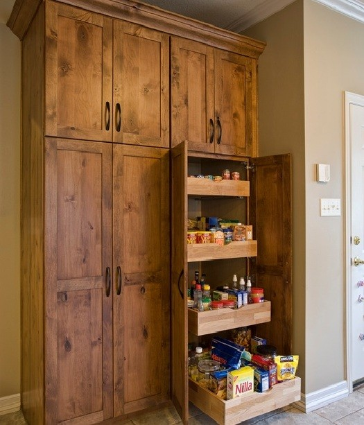 Large Freestanding Pantry Cabinet With Pull Out Shelving