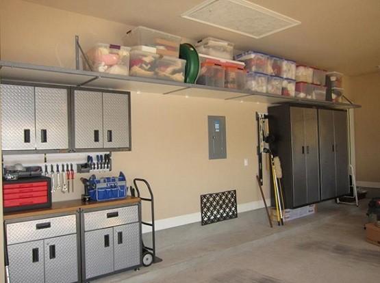 Metal garage storage cabinets with doors