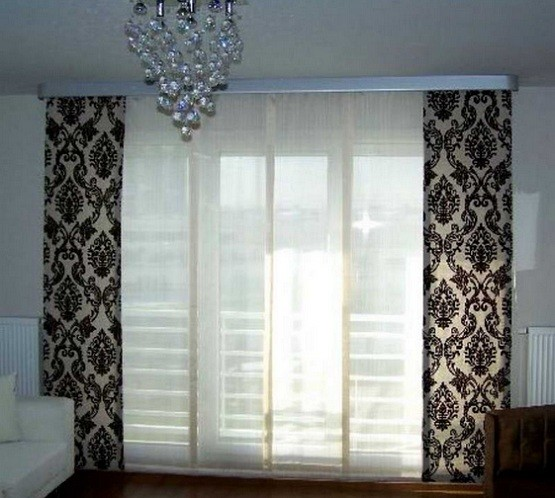 Modern sliding glass door curtains home interiors sliding glass door curtains ideas to decorate your home modern sliding glass door curtains planetlyrics Choice Image