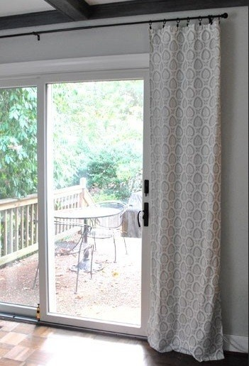Sliding glass door curtains with ring clips model