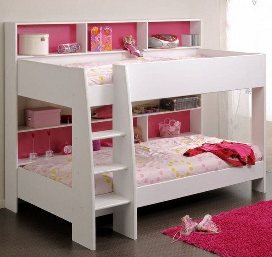Small twin bunk beds with stairs and bookselvhes