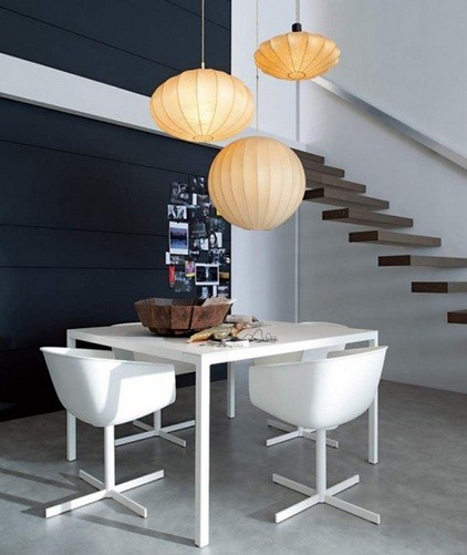 Three ceiling pendant light fixtures for small dining room