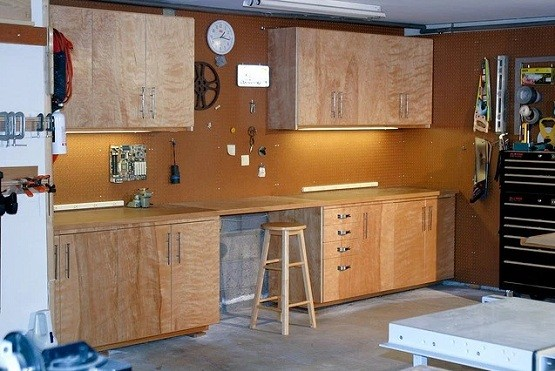 Unfinished Wood Garage Cabinets With Doors