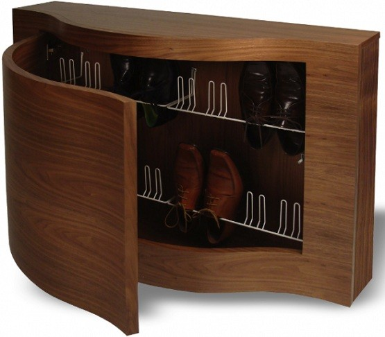 Unique design shoe cabinet with doors