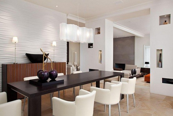 White contemporary ceiling light fixtures for dining room