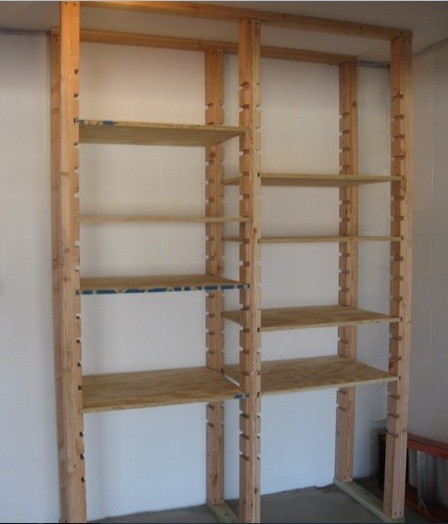 Adjustable diy garage shelves plans with plywood