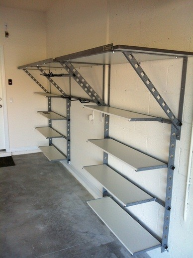 Adjustable diy steel garage shelves