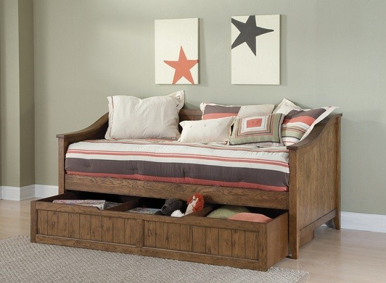 Brown daybeds with storage for rustic decoration