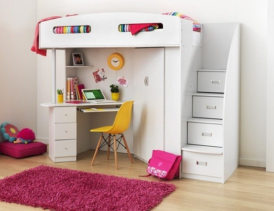 Loft Bed Desk Bunk Beds With Stairs Full Size Bunk Bedsloft