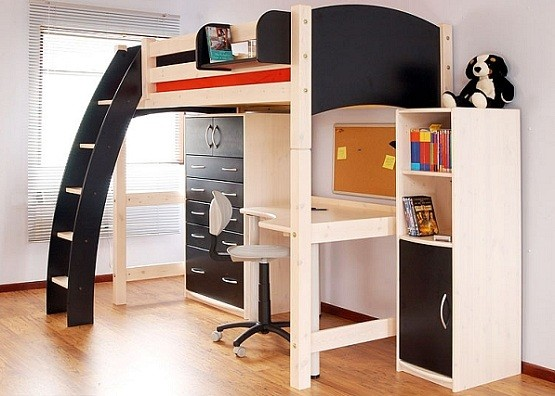 Bunk Bed With Desk Underneath For Boys