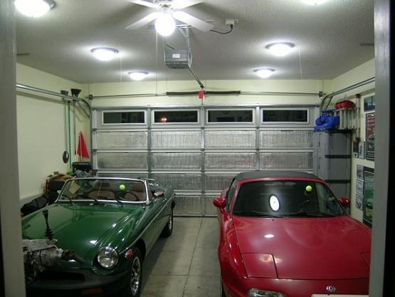 Ceiling LED garage lighting ideas
