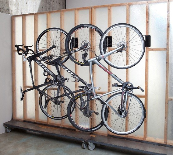 rack vertical for garage gear wall mount eksmfg multiple up com bike storage bicycle garages