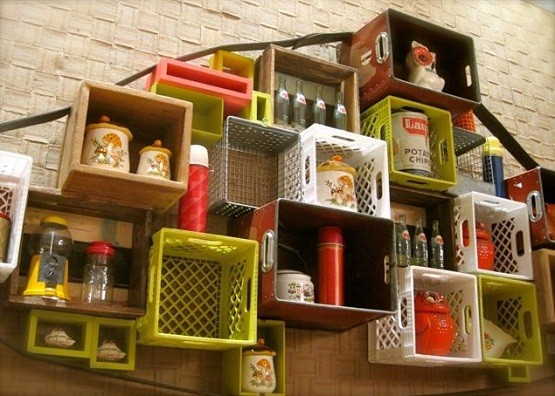 Diy garage shelves ideas from plastic container