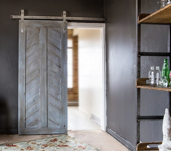 interior sliding barn doors bring classic elegant interior to your house home interiors. Black Bedroom Furniture Sets. Home Design Ideas