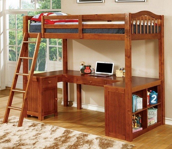 Bunk Bed with Desk Underneath, The Best Furniture for Your Children ...
