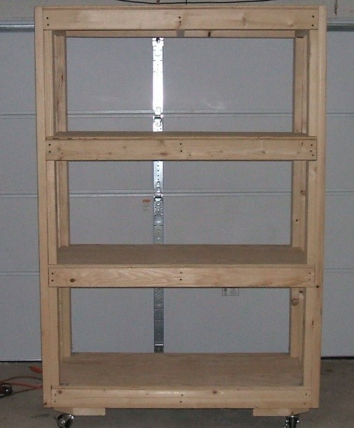 Simple and mobile diy garage shelves with plywood