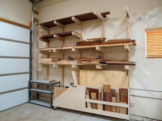 Beau Diy Garage Shelves Plans With Lumber