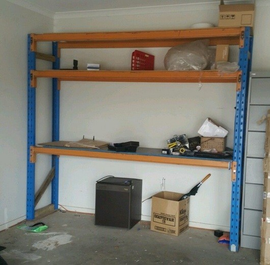 diy heavy duty garage shelves from steel