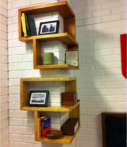 unique and stylish floating corner shelves design