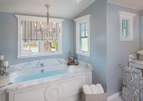 Bathroom Window Treatment For Beach Bathroom Themes