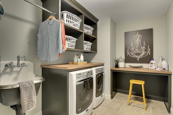 Benjamin moore paint colors laundry room cabinet ideas with hanging art chandelier