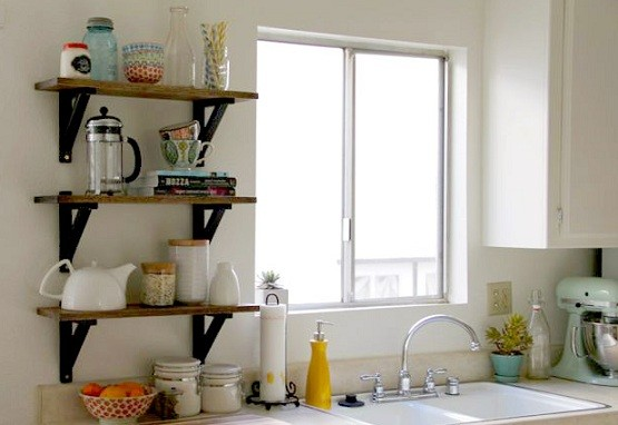 diy kitchen storage shelves for small kitchen