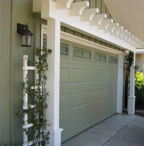 12 foot garage door with glass window insert
