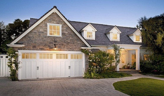 20 foot garage door for residential with carriage style