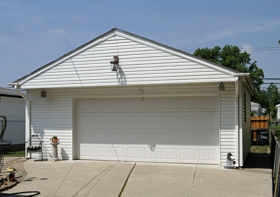20 foot garage door with raised panel design