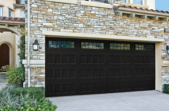Automatic double garage door size with window