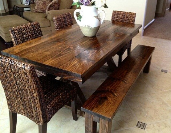 Farmhouse Style Dining Tables For Classic And Country Home