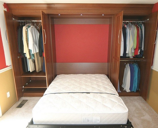 Closet bed furniture for small bedroom