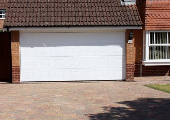 Double garage door size with opener installed