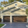 Double garage door size with short raised panel style