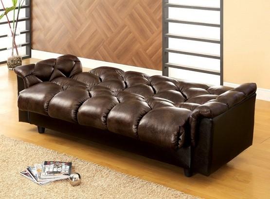 Futons with large storage underneath seat dark brown