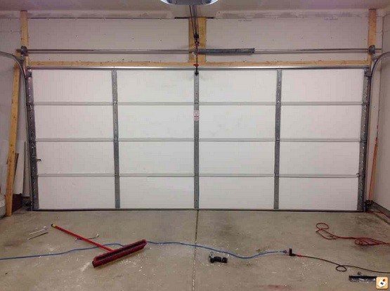 Garage Door Insulation Panels With One Inch Thick Styrofoam Home