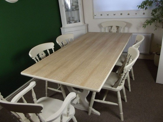 Hand Painted Farmhouse Style Dining Table With 6 Chairs Home Interiors