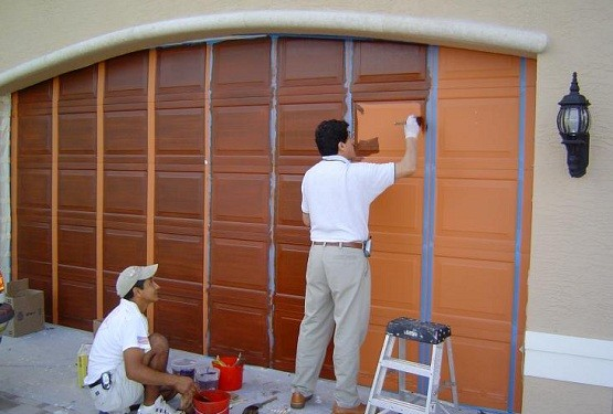 How to paint garage door with two color