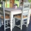 Painted farmhouse style dining table for small dining room