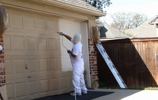 Steps to paint garage door