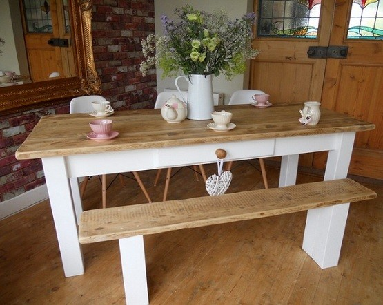 Farmhouse Style Dining Tables For Classic and Country Home Style ...