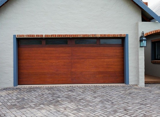 Wooden double garage door size