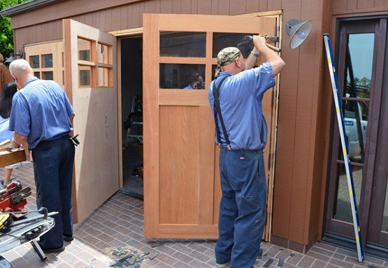 Swing Out Garage Doors How To Build In Three Steps Home
