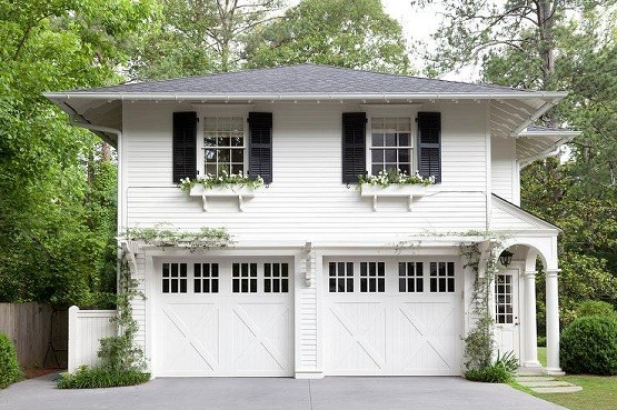 Beautiful design of two car garage door size